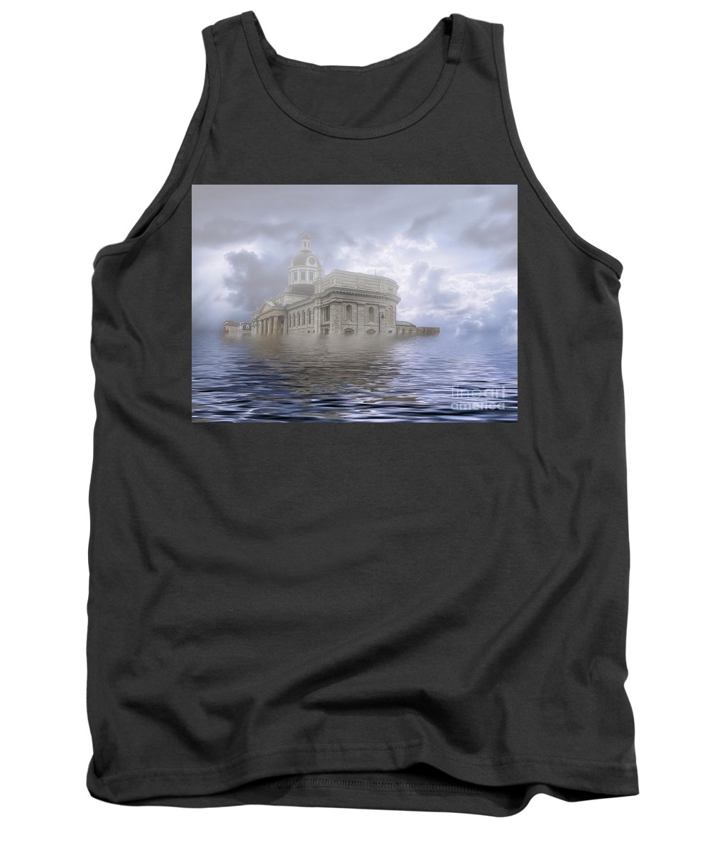 Architecture Tank Top featuring the photograph Lake Ontario 2115 by Roger Monahan