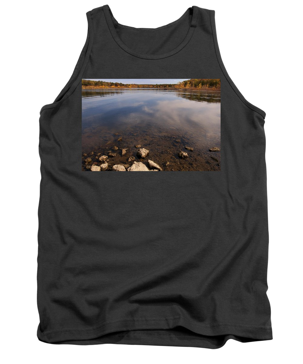 Lake Tank Top featuring the photograph Lake Pomme De Terre In October by Mitch Spence