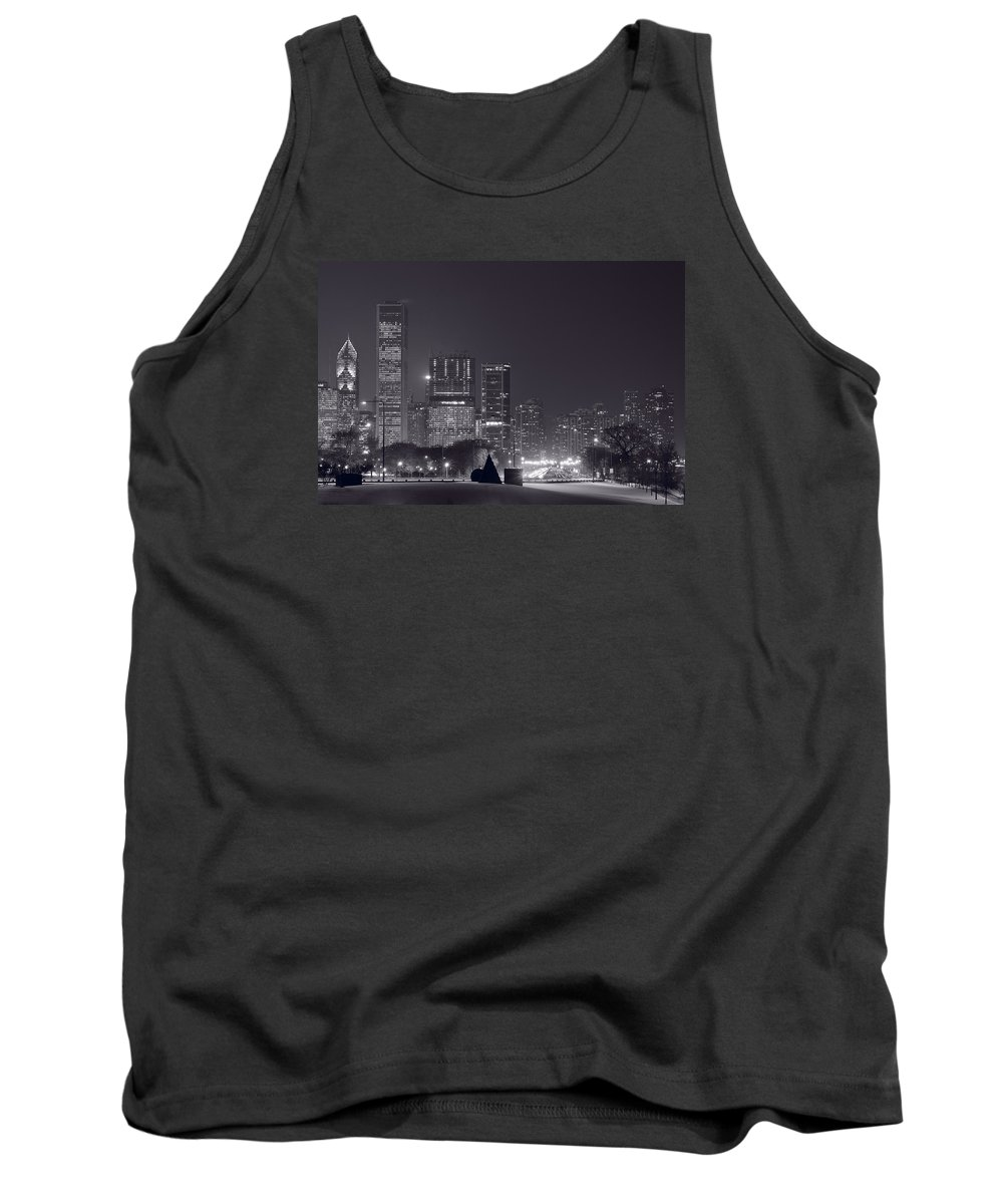 Building Tank Top featuring the photograph Lake Shore Drive Chicago B And W by Steve Gadomski