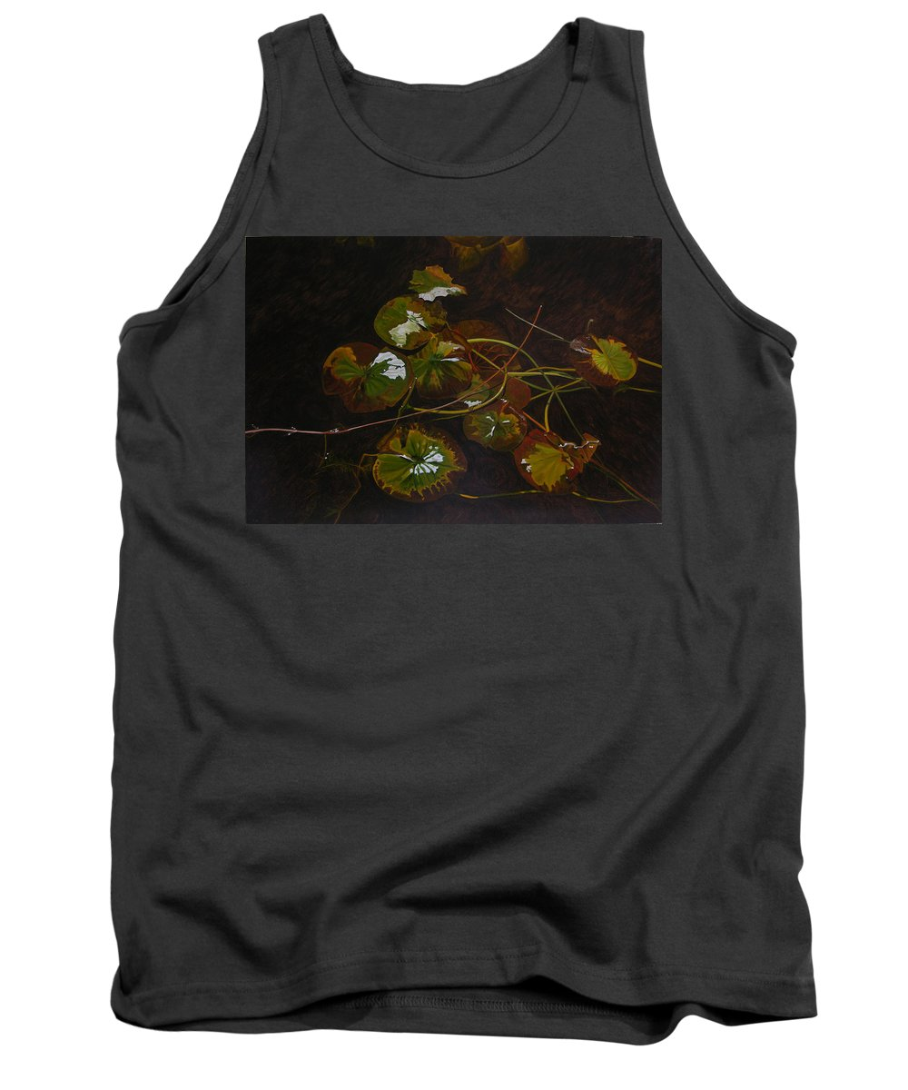 Waterlilies Tank Top featuring the painting Lake Washington Lily Pad 16 by Thu Nguyen