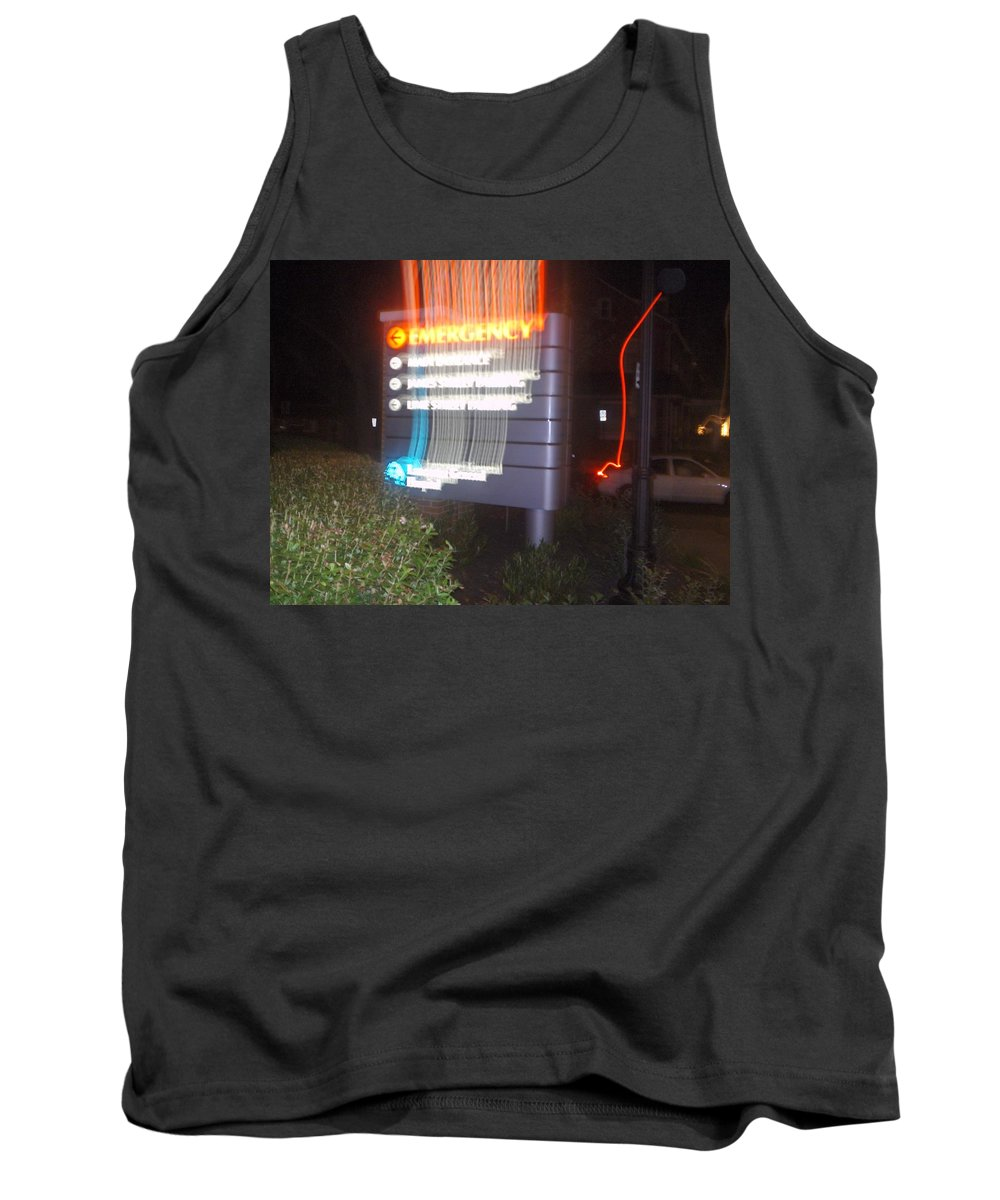 Photograph Tank Top featuring the photograph Lancaster Genral Emergency Room by Thomas Valentine