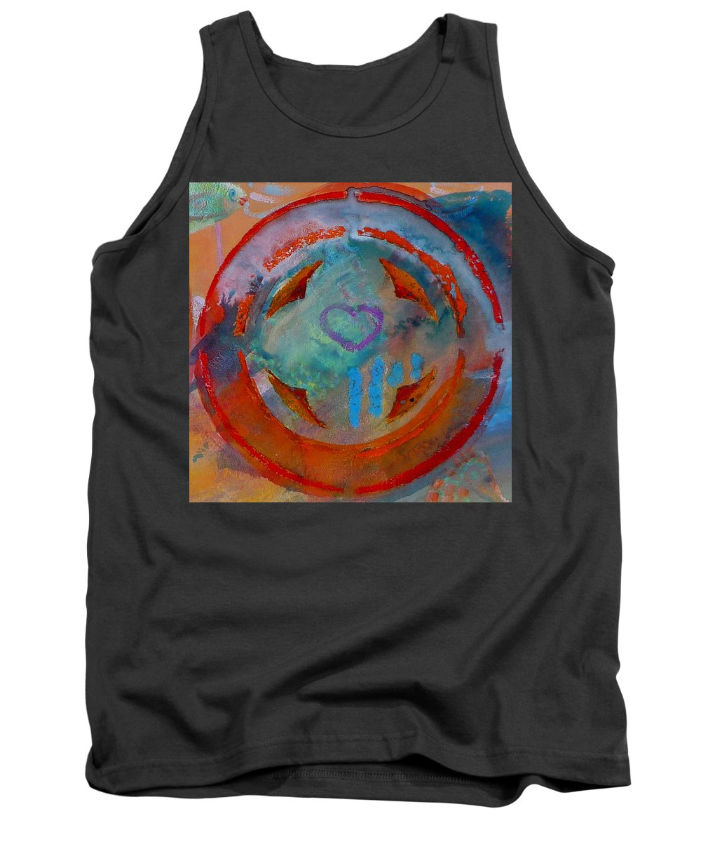 Love Tank Top featuring the painting Landscape Seascape by Charles Stuart