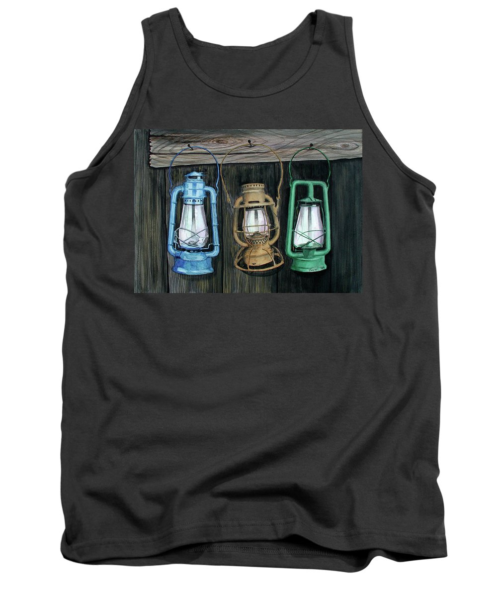 Lanterns Tank Top featuring the painting Lanterns by Ferrel Cordle