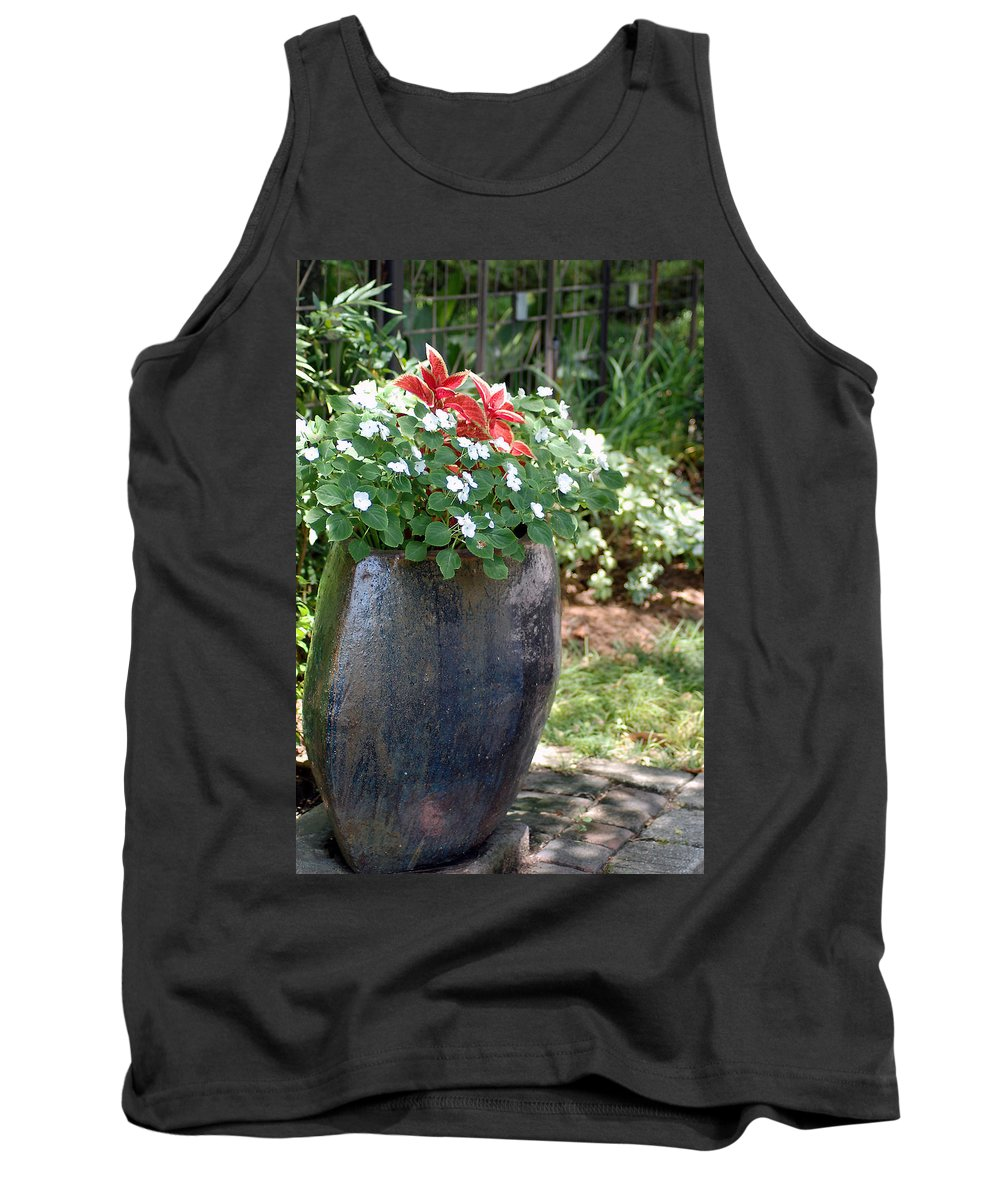 Flowers Tank Top featuring the photograph Large Vase by Donna Bentley