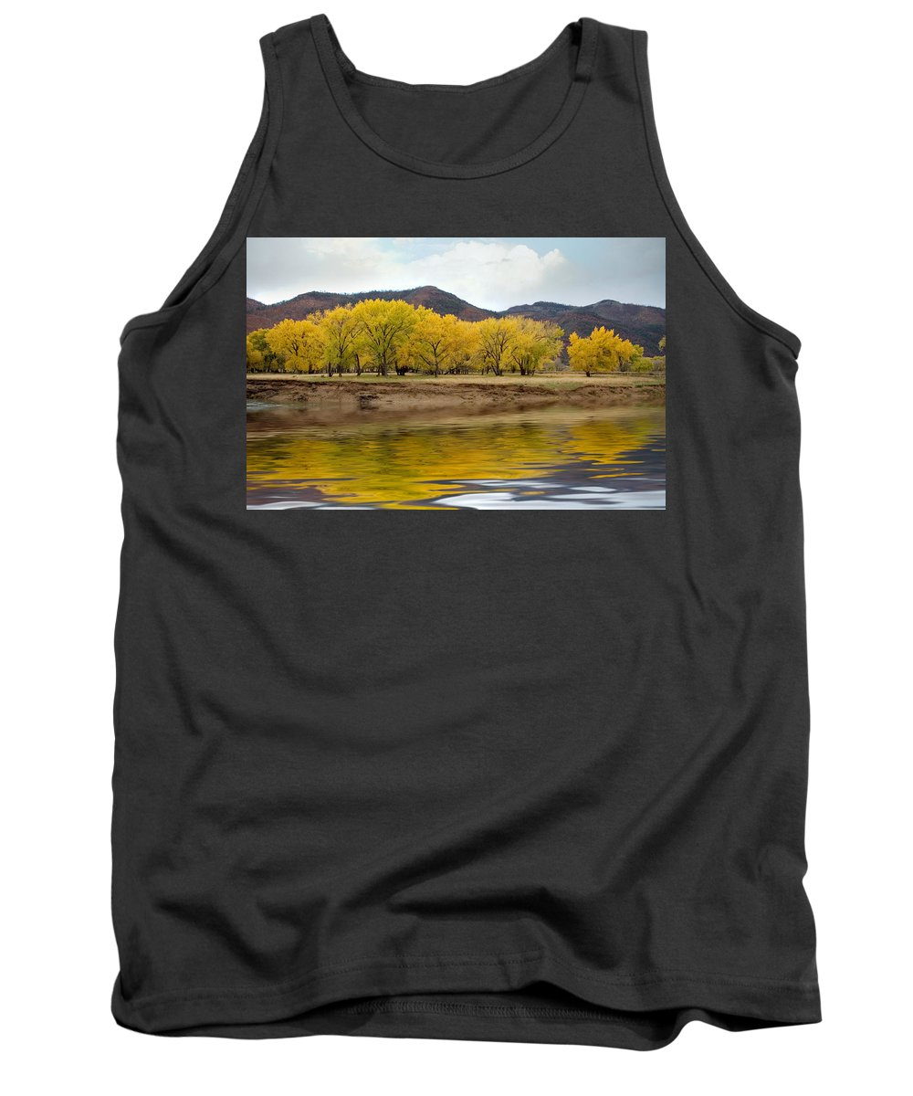 River Tank Top featuring the photograph Las Animas Fall by Jerry McElroy