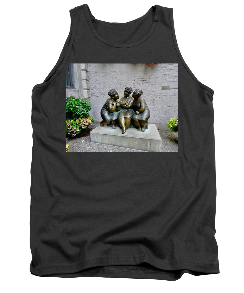 Statue Tank Top featuring the photograph Las Comadres by Aurora Bautista