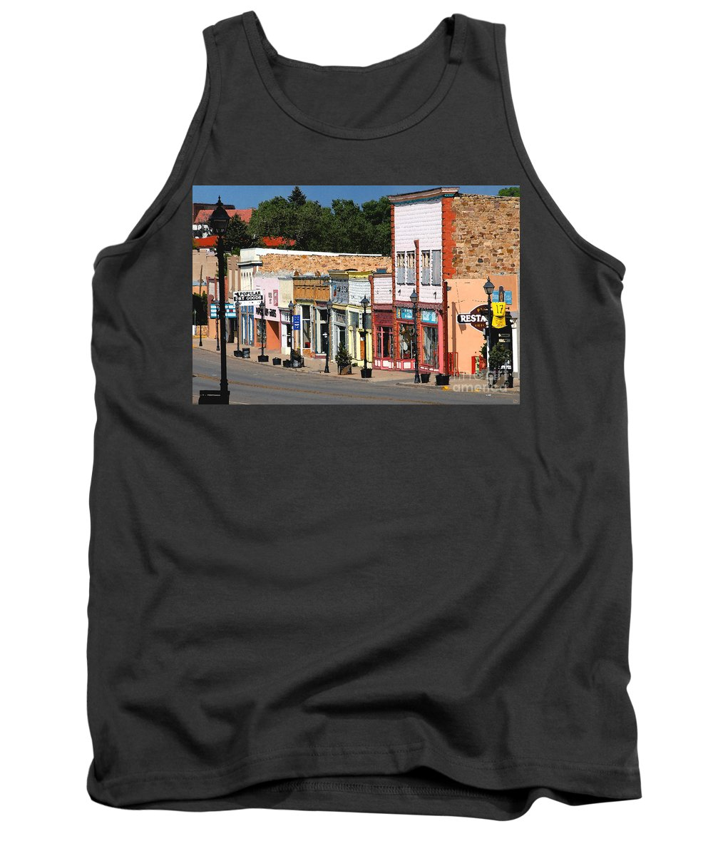 Las Vegas New Mexico Tank Top featuring the painting Las Vegas New Mexico by David Lee Thompson
