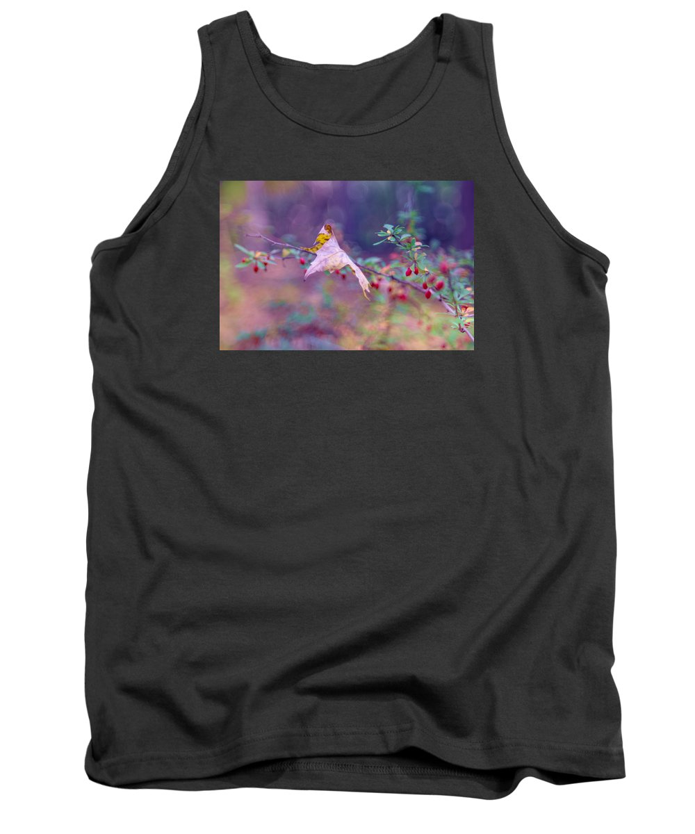 Autumn Tank Top featuring the photograph Last Leaf by June Marie Sobrito
