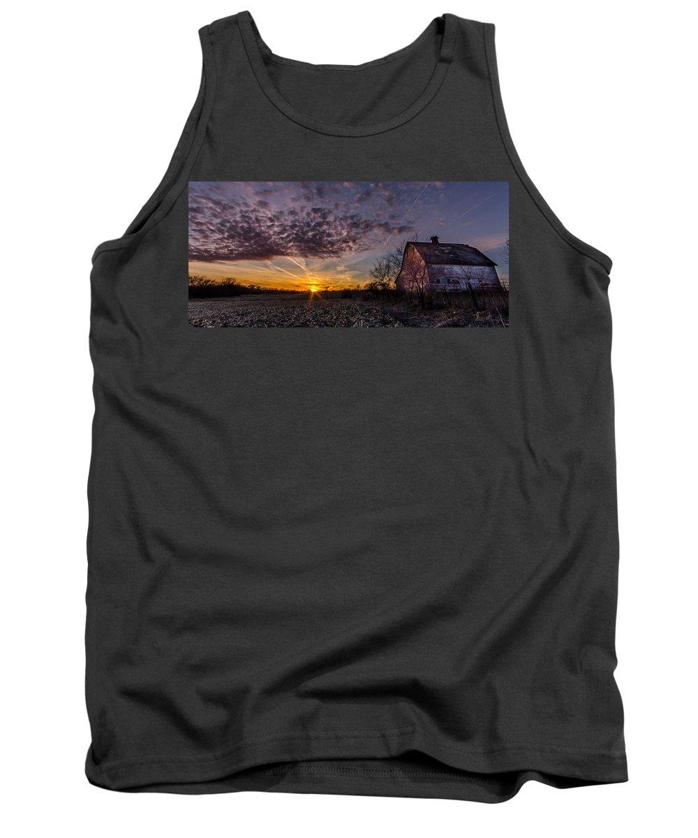 Last Tank Top featuring the photograph Last Light by Gary Mosman