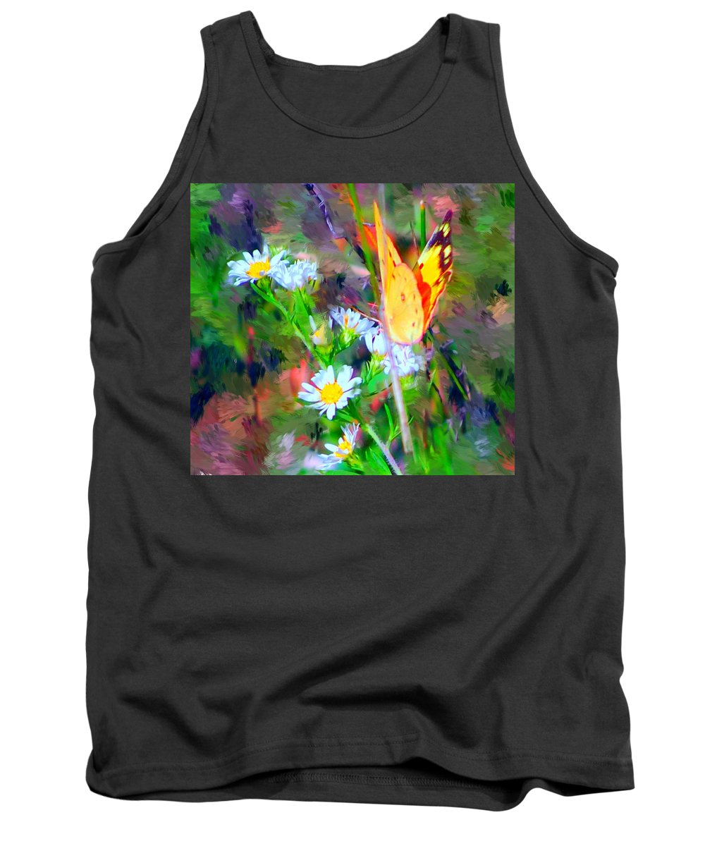 Landscape Tank Top featuring the painting Last Of The Season by David Lane