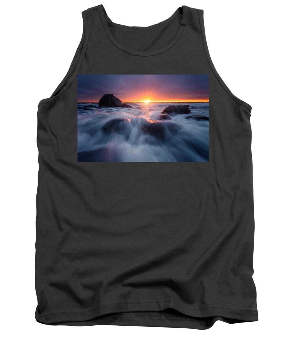 Blue Tank Top featuring the photograph Last Rays by Arvid Bjorkqvist