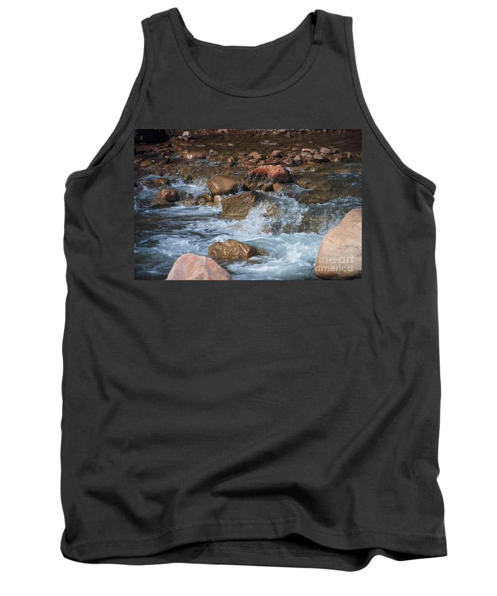 Creek Tank Top featuring the photograph Laughing Water by Kathy McClure