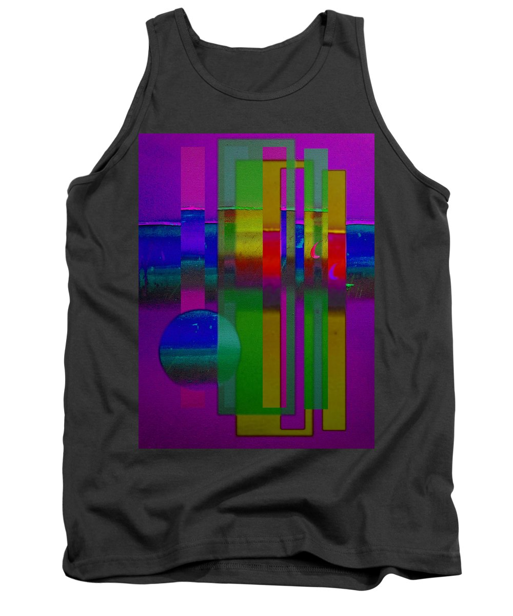 Landscape Tank Top featuring the painting lavender Doors by Charles Stuart