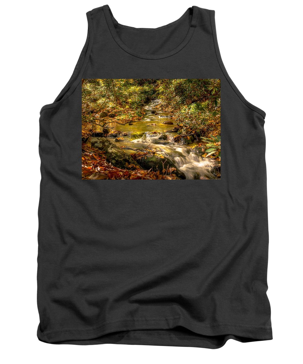 Mountain Waterfall Tank Top featuring the photograph Lazy Mountain Water Fall by Larry Jones