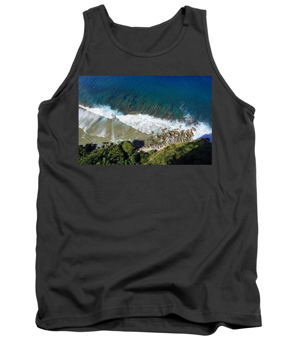 Beach Tank Top featuring the photograph Lazy Waves by Jade Phoenix