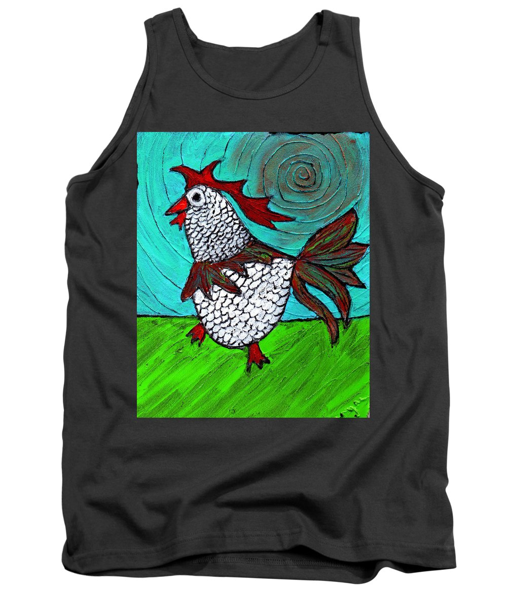 Rooster Tank Top featuring the painting Leader Of The Pack by Wayne Potrafka