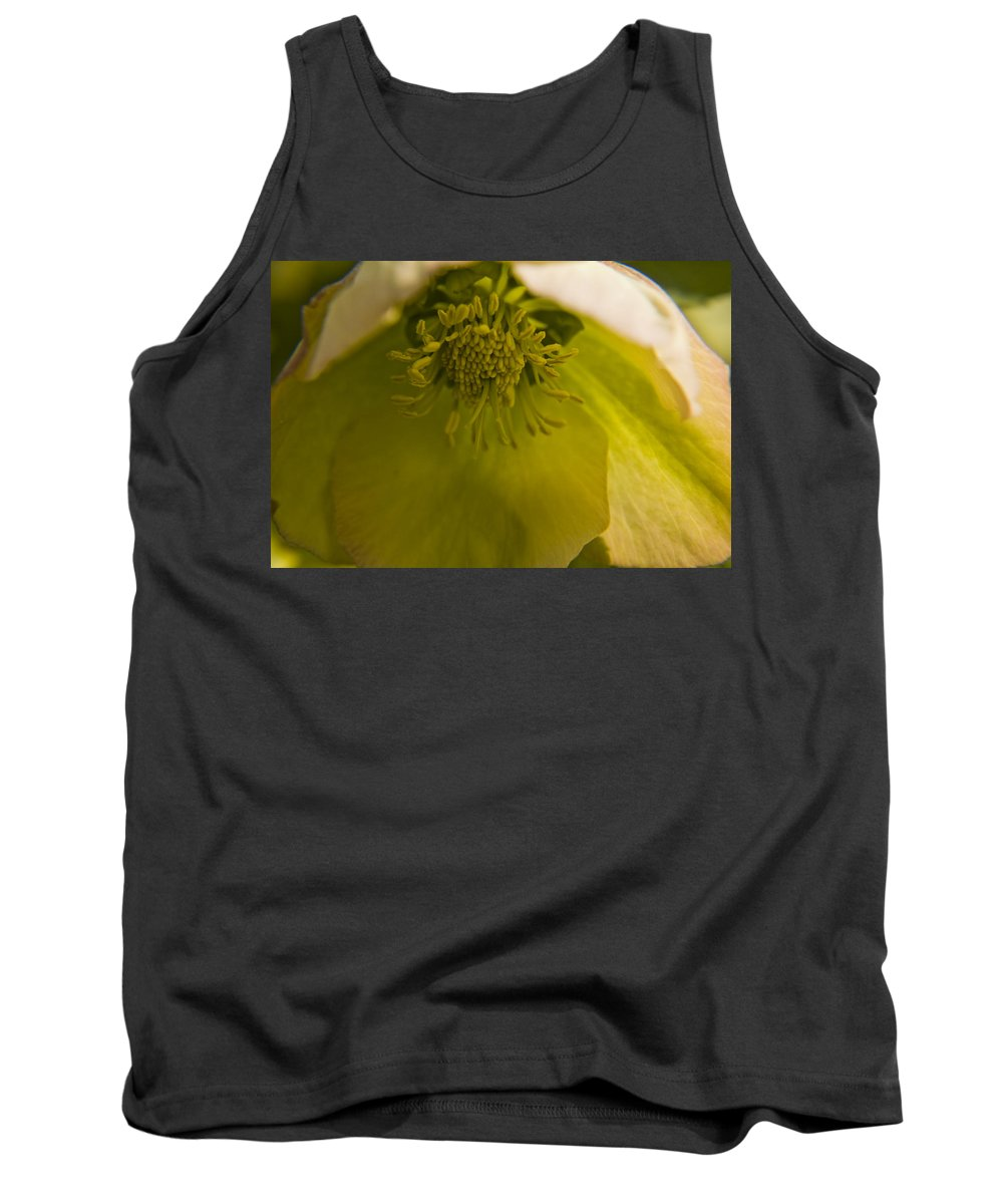 Flower Tank Top featuring the photograph Lenten Rose Interior by Teresa Mucha