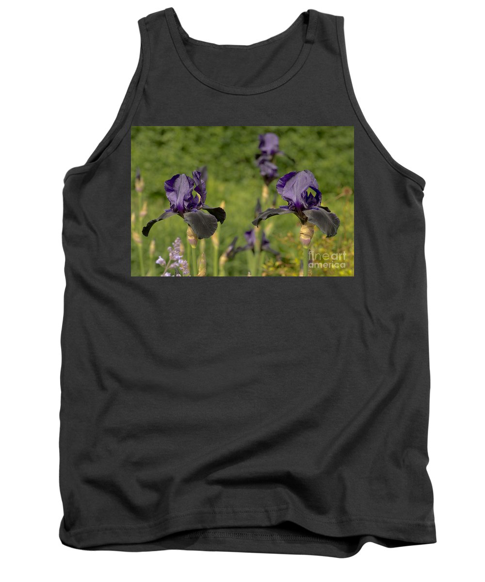 Iris Tank Top featuring the photograph Let's Dance. Black. by Elena Perelman