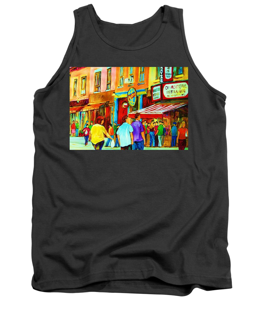 Cityscape Tank Top featuring the painting Lets Meet For Lunch by Carole Spandau
