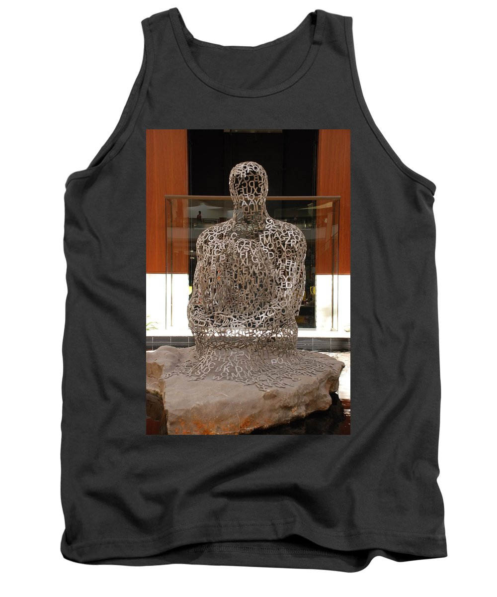 Scultures Tank Top featuring the photograph Letter Man In Color by Rob Hans