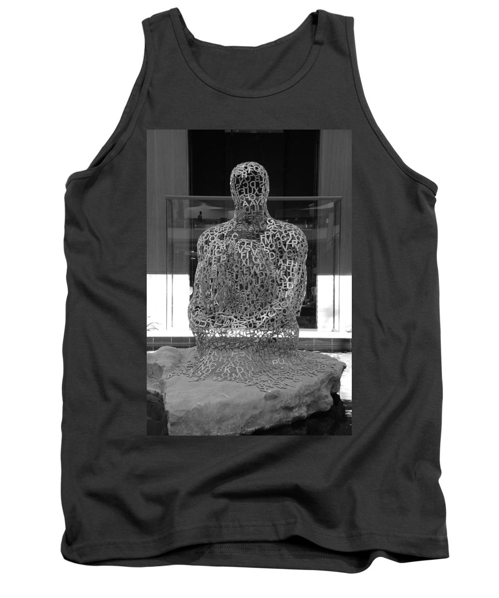 Black And White Tank Top featuring the photograph Letter Man by Rob Hans