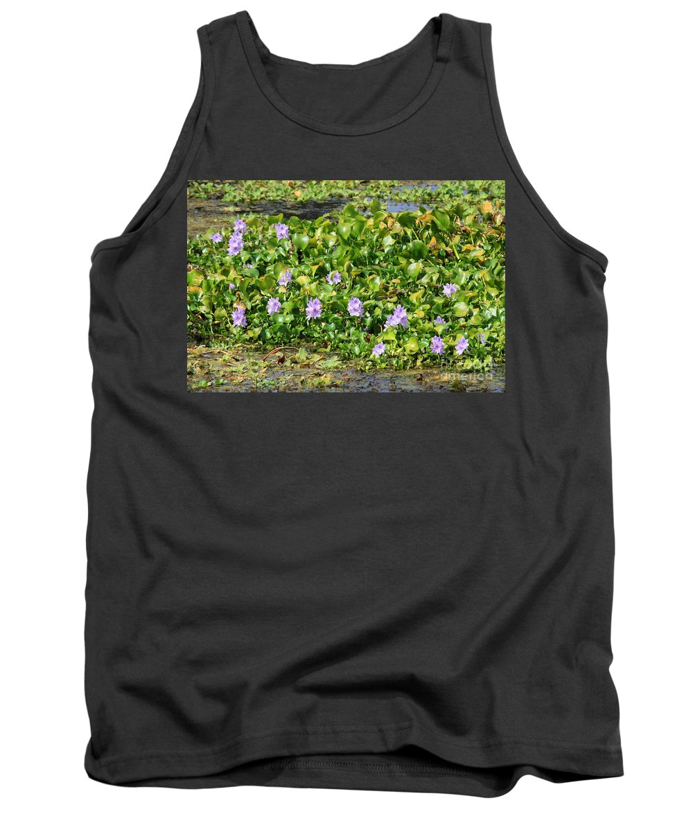 Wetlands Tank Top featuring the photograph Lettuce Lake Flowers by Carol Groenen
