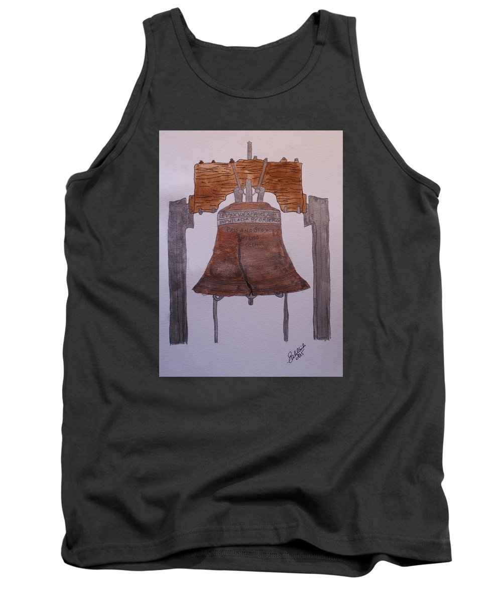 Liberty Bell Tank Top featuring the painting Liberty Bell by Elizabeth Kilbride