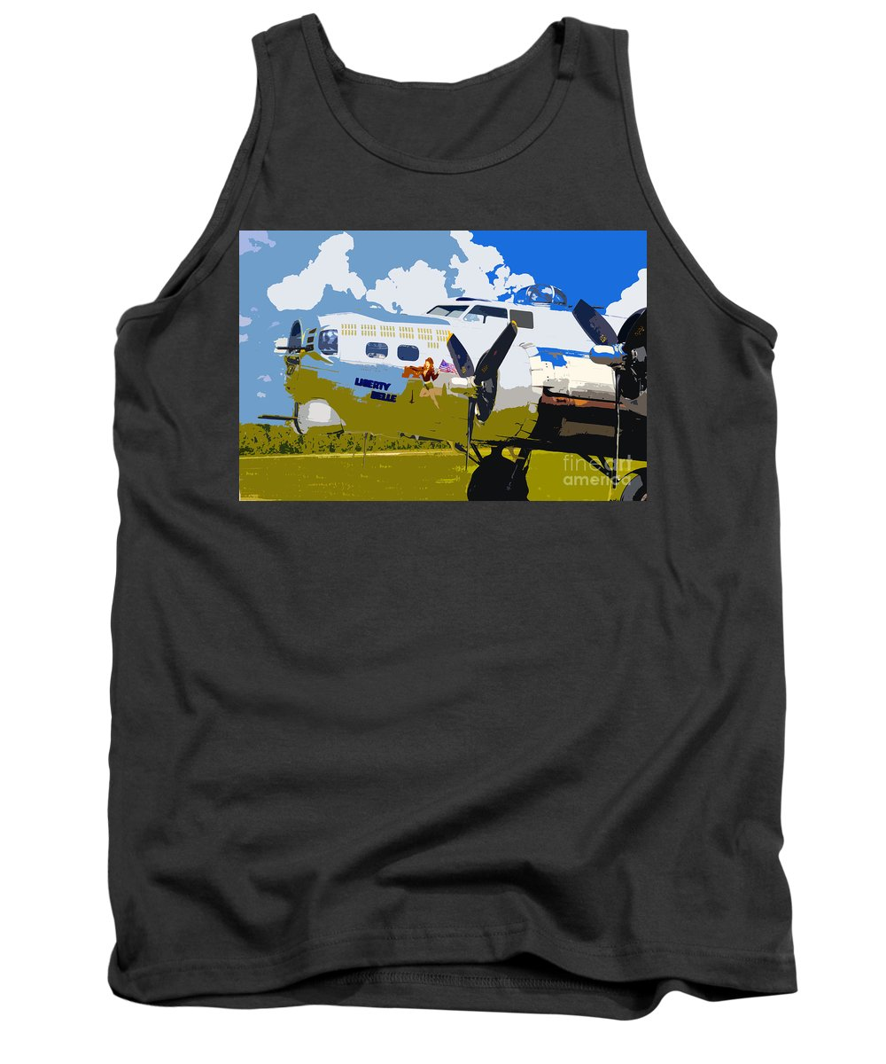 Flying Fortress Tank Top featuring the photograph Liberty Belle by David Lee Thompson