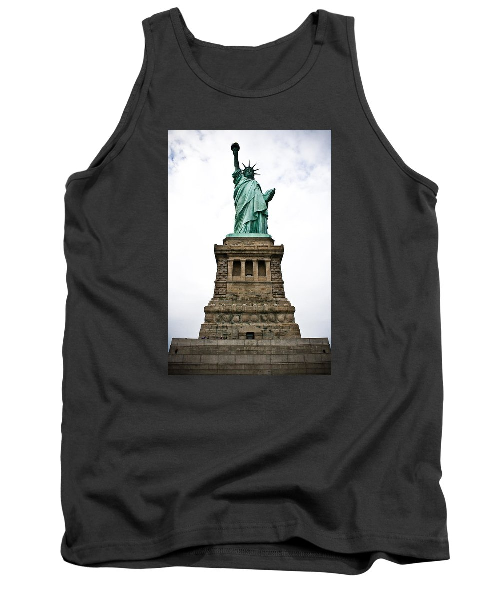 Nyc Tank Top featuring the photograph Liberty Enlightening The World by Robert J Caputo