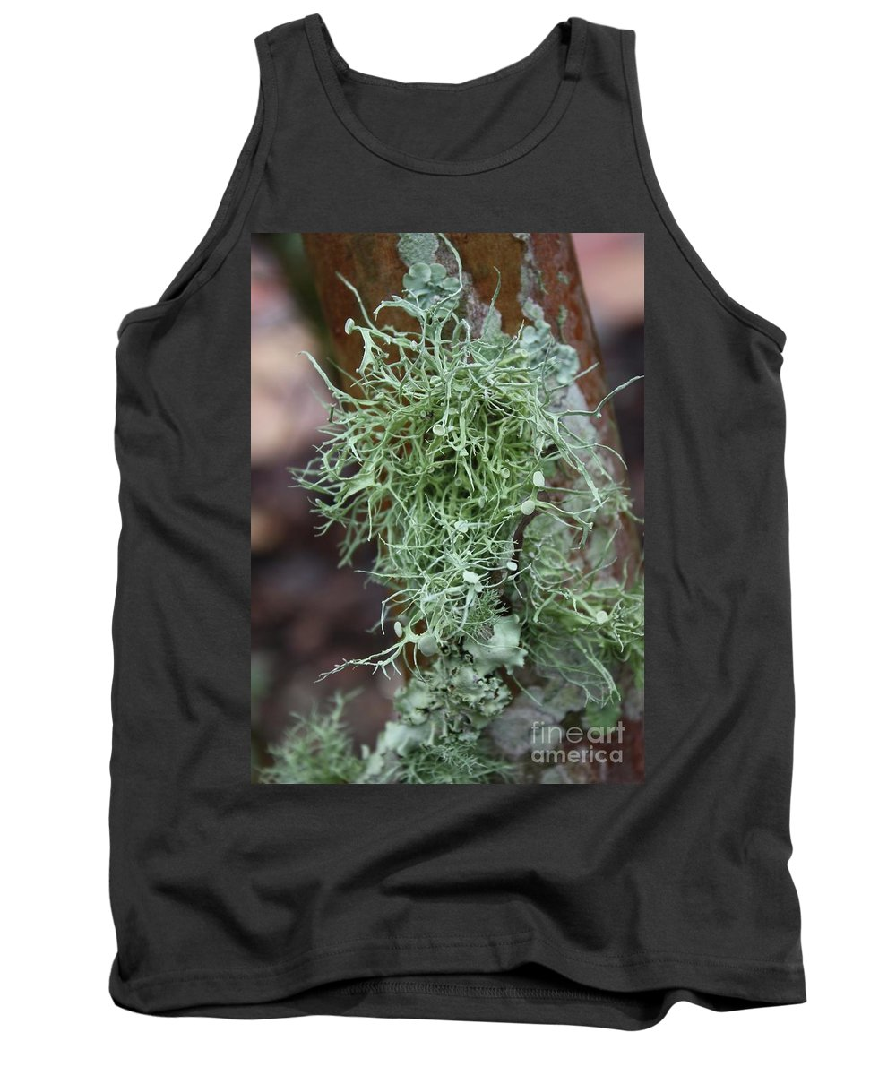 Nature Tank Top featuring the photograph Lichens 6 by Carol Groenen