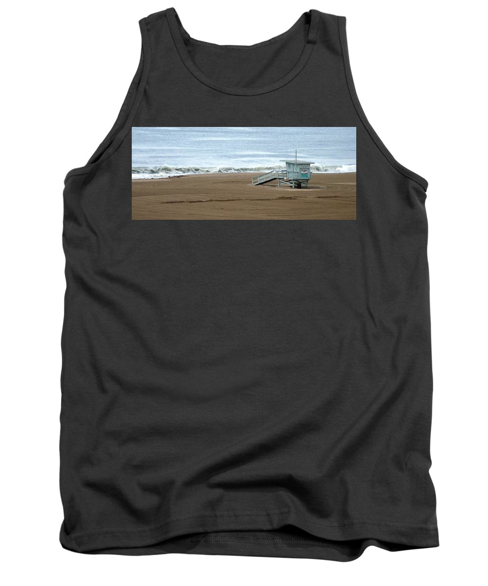 Beach Tank Top featuring the photograph Life Guard Stand - Color by Shari Chavira