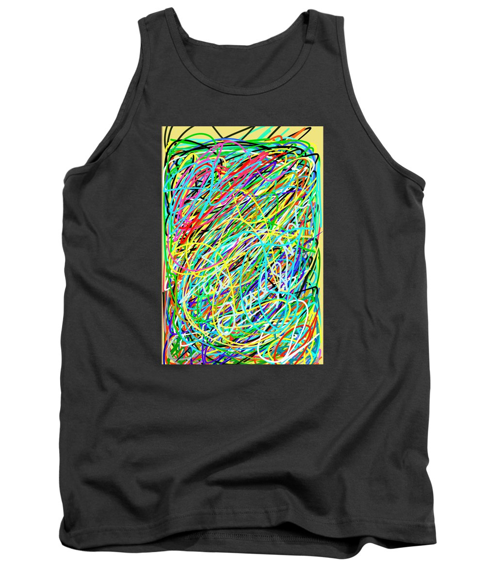 Color Tank Top featuring the painting Life Is A Mess by Ahmed Almhdaoe