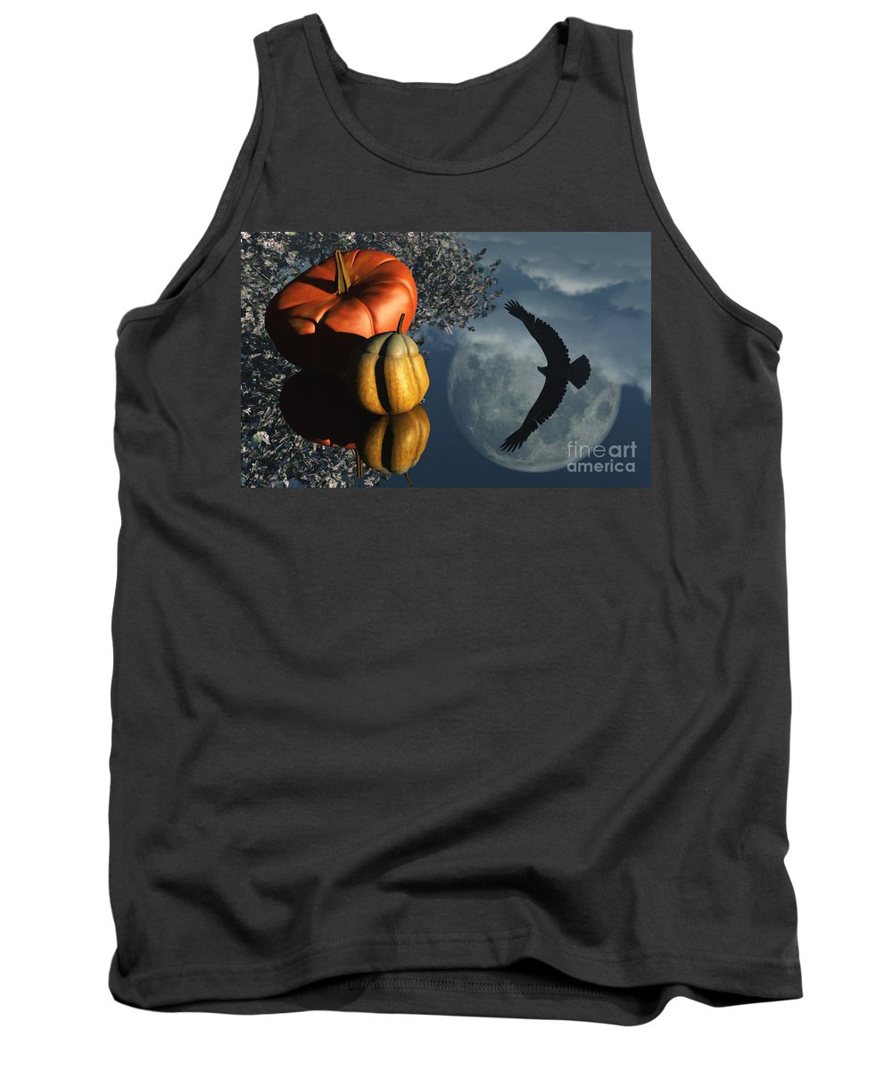 Harvest Moon Tank Top featuring the digital art Life's Reflections by Richard Rizzo