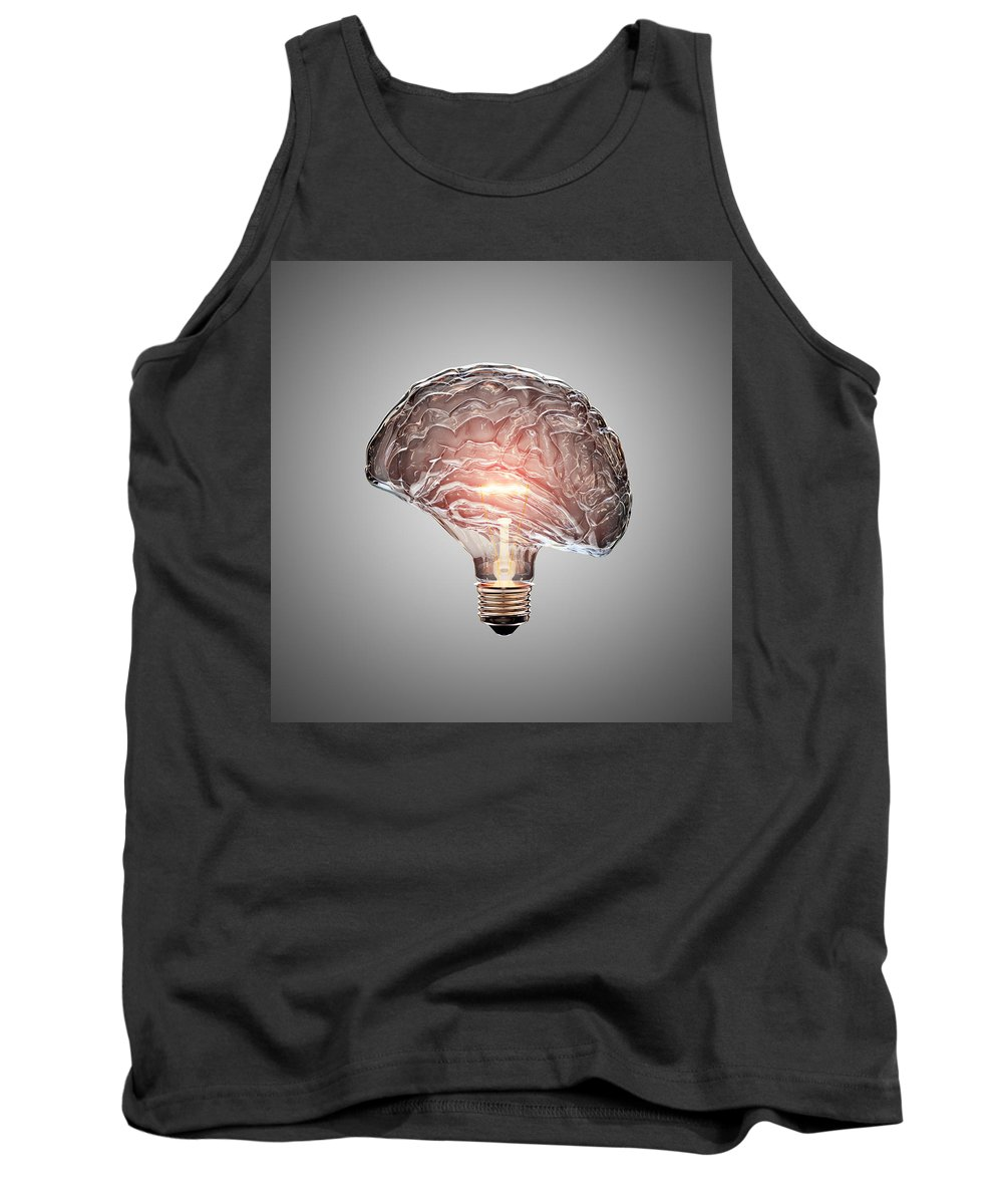 Light Tank Top featuring the photograph Light Bulb Brain by Johan Swanepoel