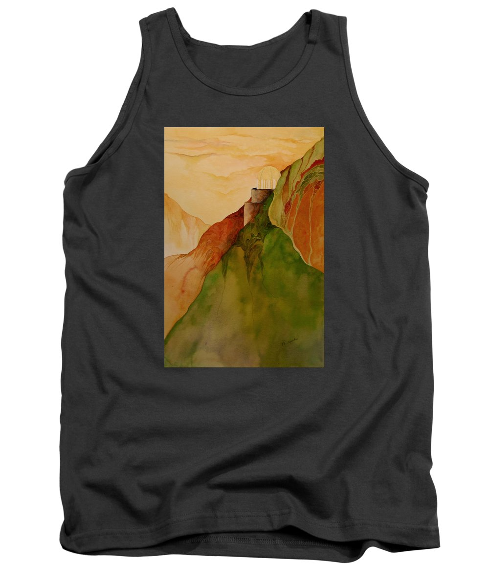 Watercolor Tank Top featuring the painting Light House by Peggy Guichu