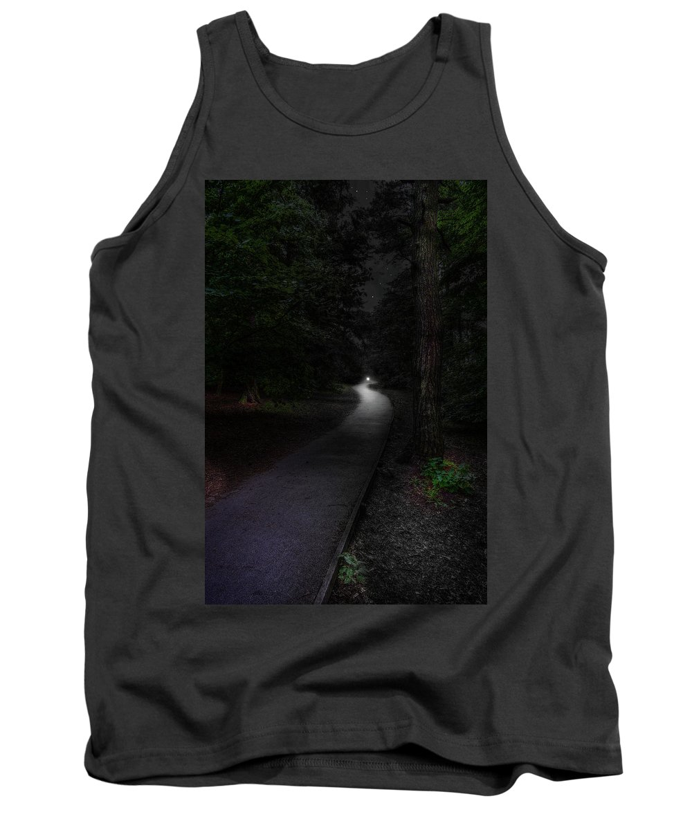 Digital Tank Top featuring the digital art Light In The Forest by Mark Hunter