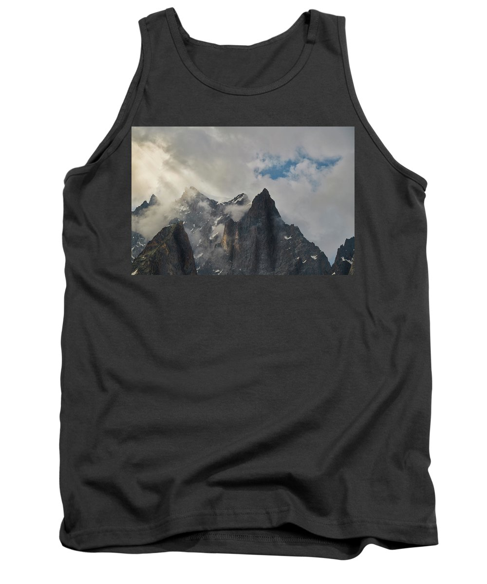 Decor Tank Top featuring the photograph Light On The French Alps by Jon Glaser