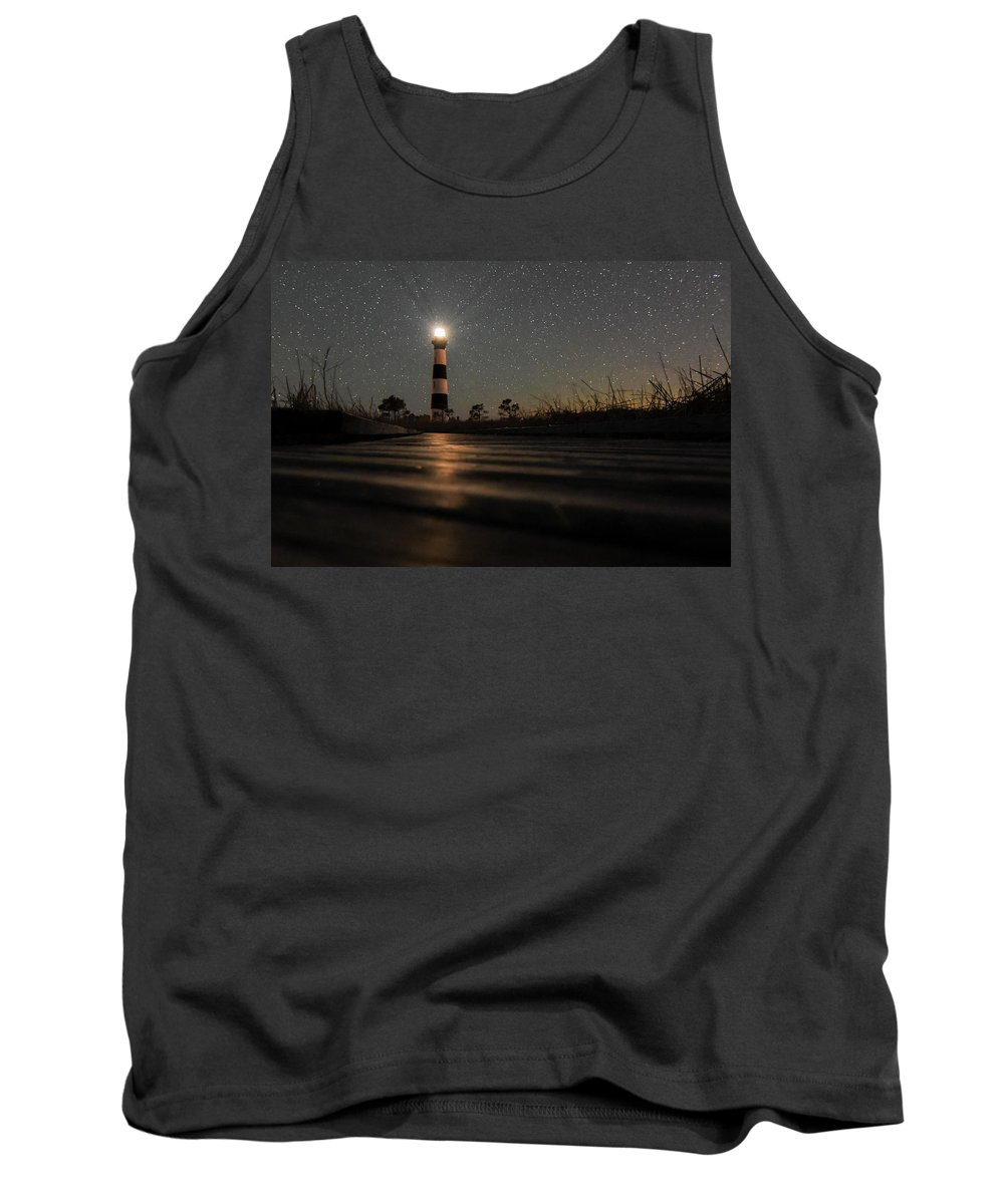 Lighthouse Tank Top featuring the photograph Light Up The Path by Jeremy Clinard