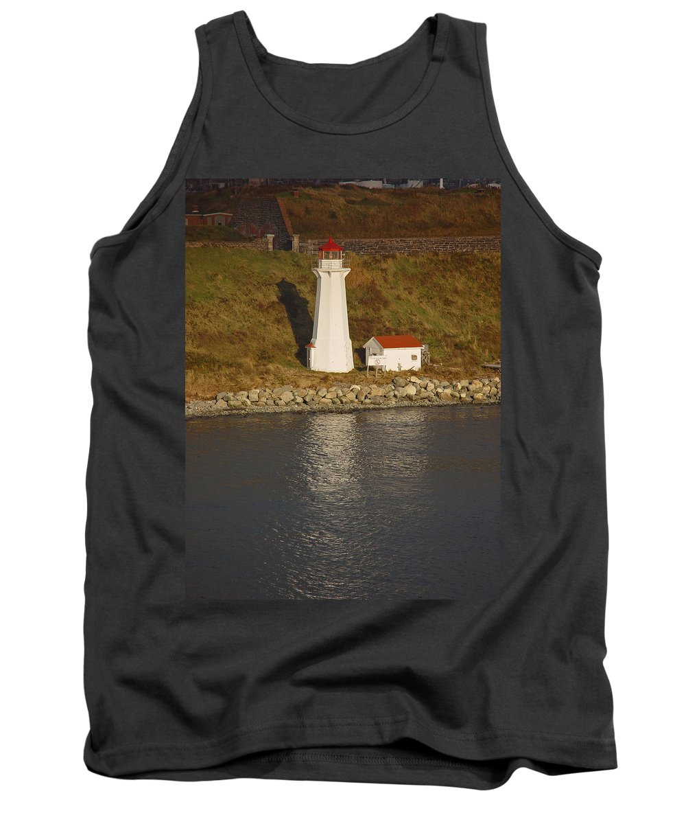 Lighthouse Tank Top featuring the photograph Lighthouse In Maine by Heather Coen