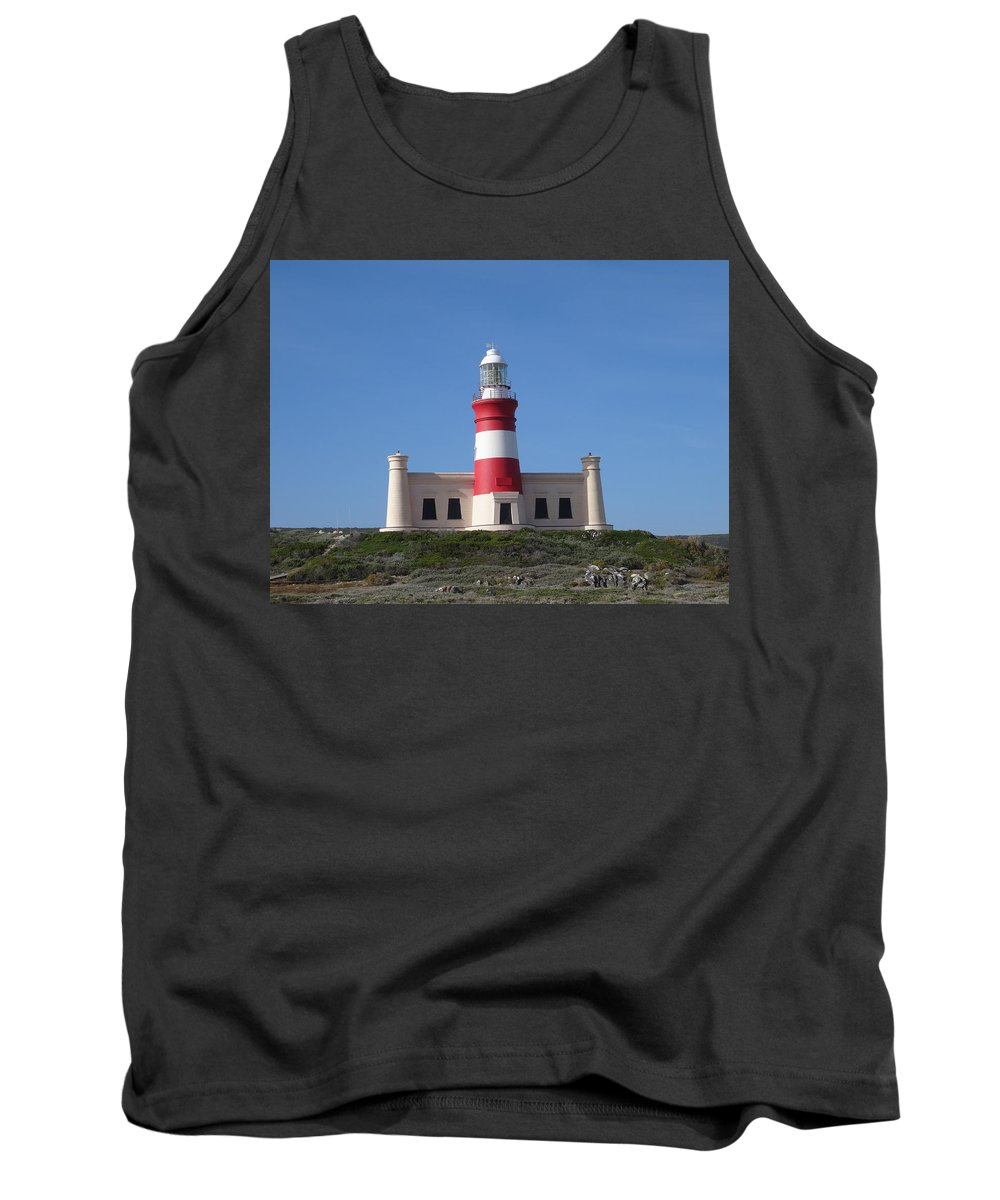 Lighthouse Of Agulhas Tank Top featuring the photograph Lighthouse Of Agulhas by Victor Carvalho