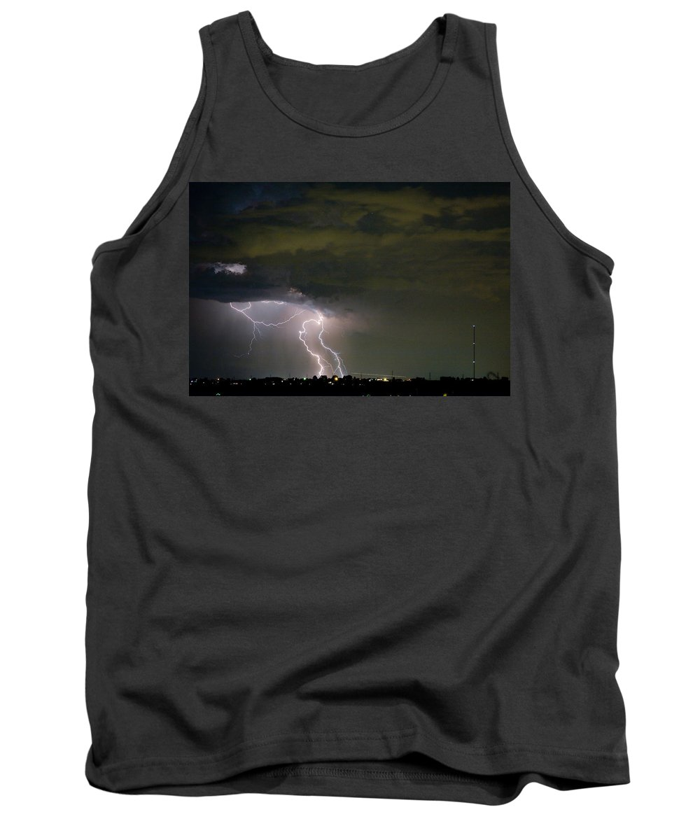 Colorado Lightning Storm Tank Top featuring the photograph Lightning Man In The Clouds by James BO Insogna