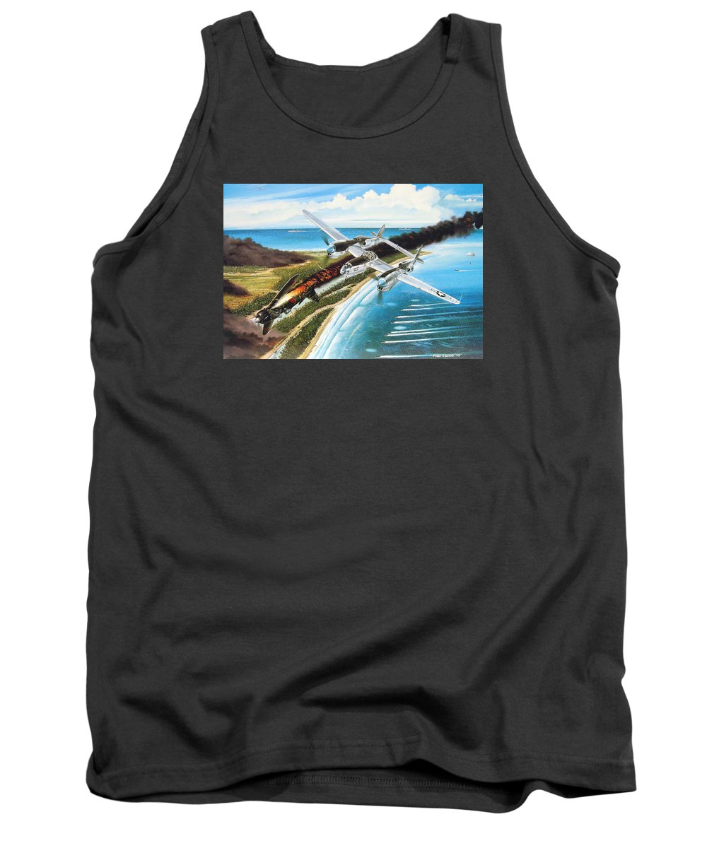 Aviation Tank Top featuring the painting Lightning Over Mindoro by Marc Stewart