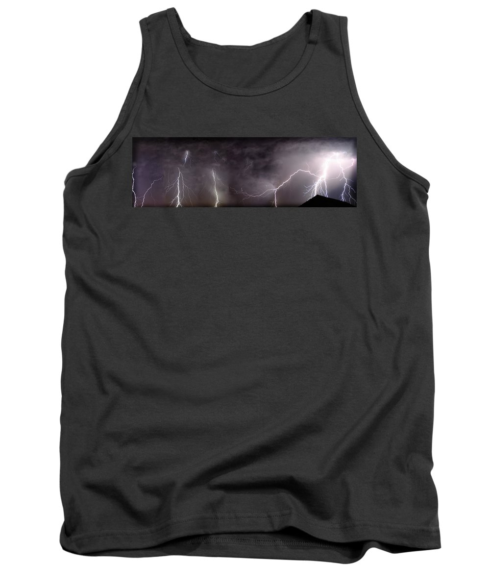 Lightning Tank Top featuring the photograph Lightning Over Perris by Anthony Jones