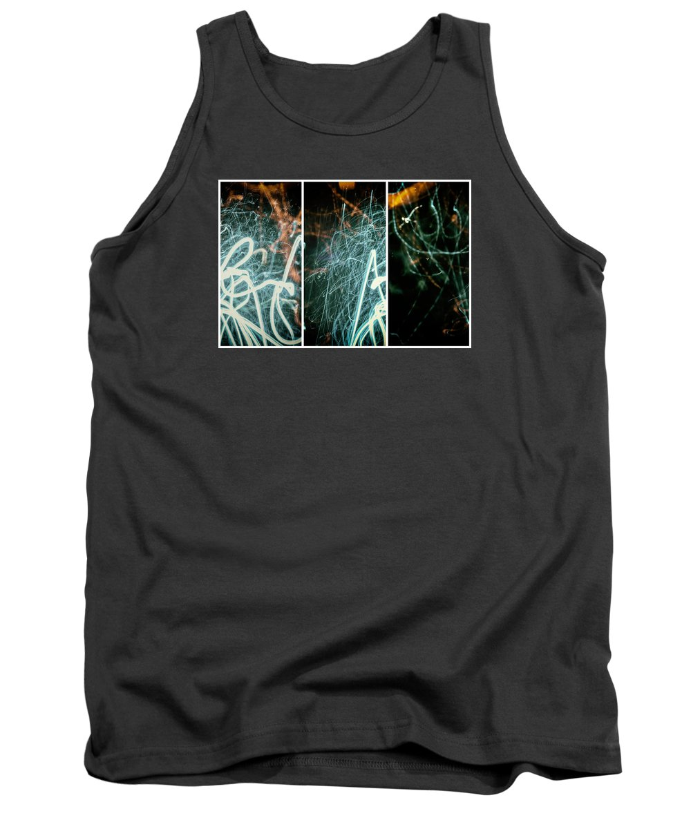 Movement Tank Top featuring the photograph Fusion Of Three by John Williams