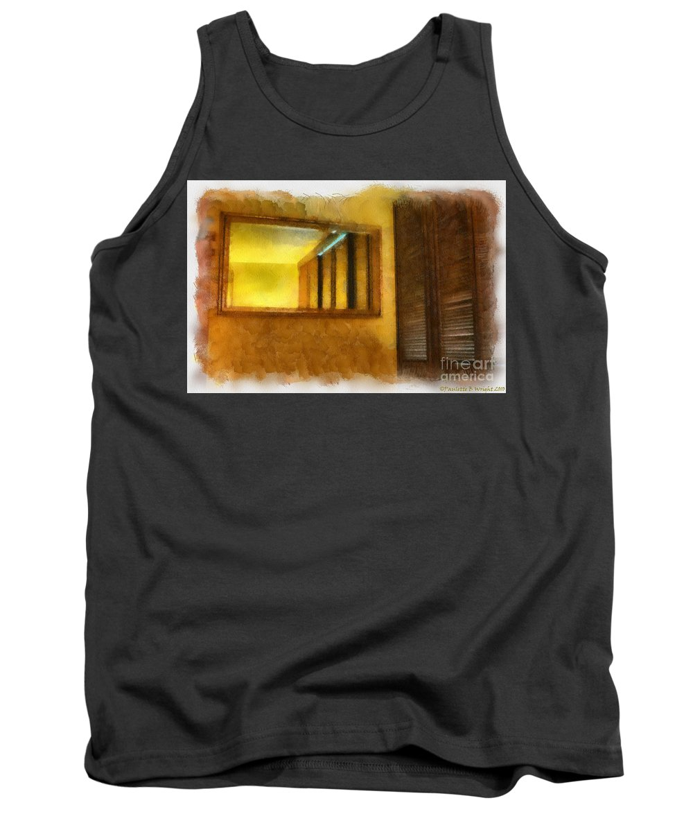 Hawaii Tank Top featuring the painting Lights Early Reflection by Paulette B Wright
