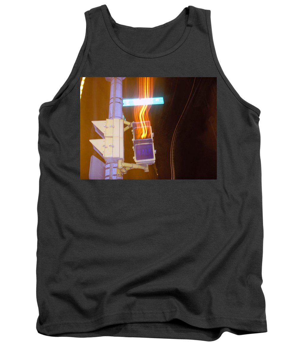 Photograph Tank Top featuring the photograph Lights That Eat Do Not Walk Signals by Thomas Valentine