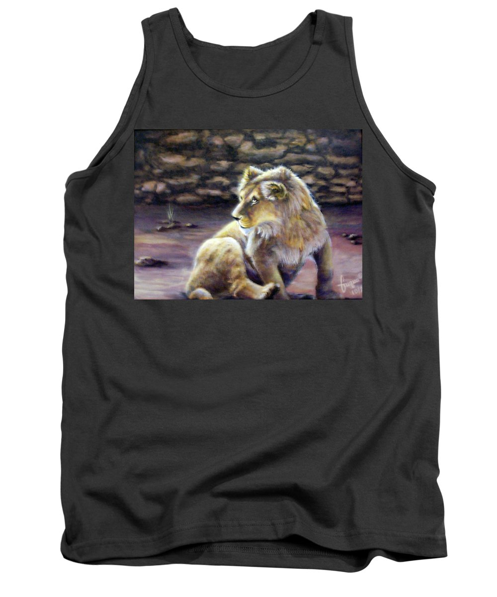 Fuqua - Artwork. Wildlife Tank Top featuring the painting Like Son by Beverly Fuqua