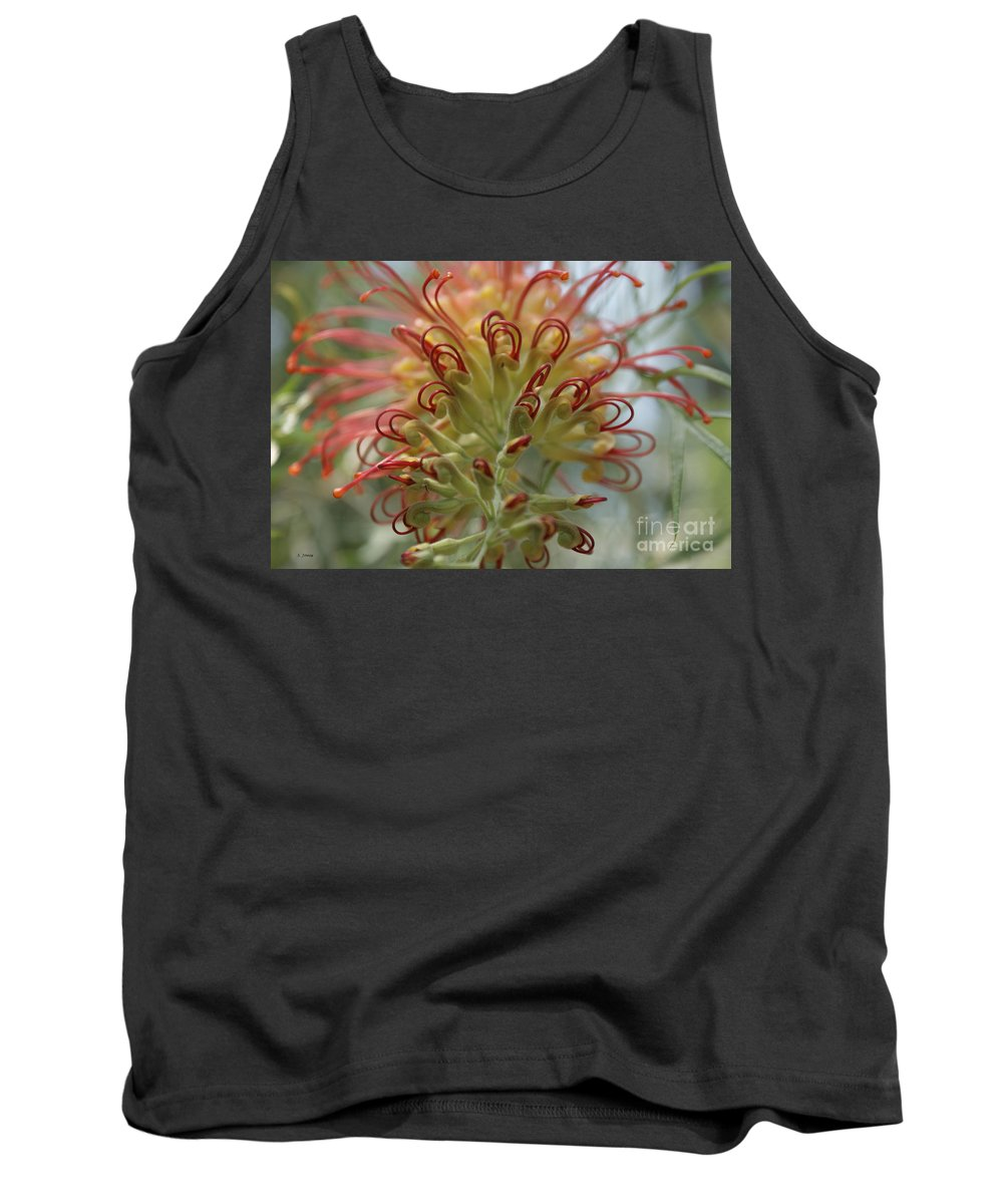 Floral Tank Top featuring the photograph Like Stems Of A Cherry by Shelley Jones