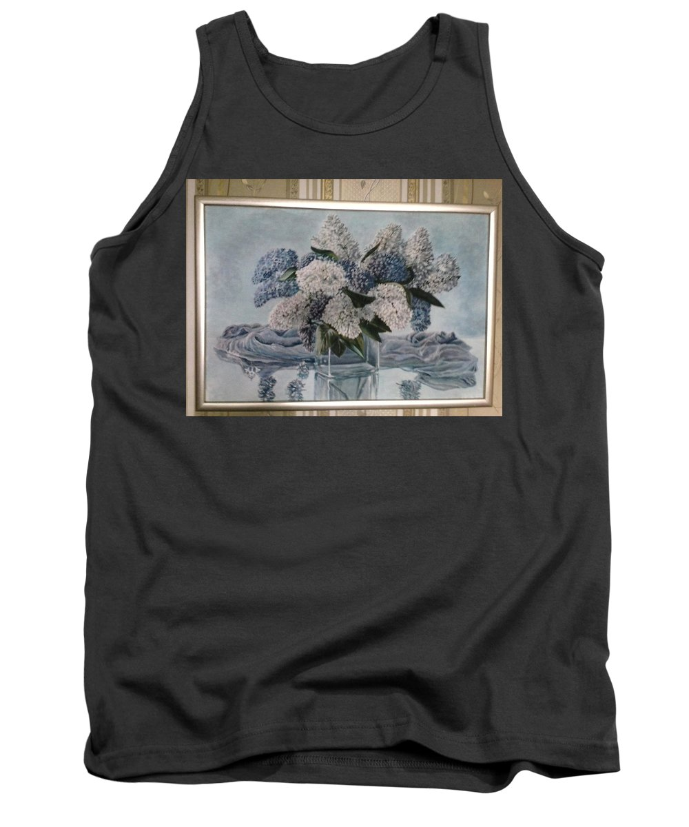 Lilac Tank Top featuring the painting Lilac by Artyom Ukhov