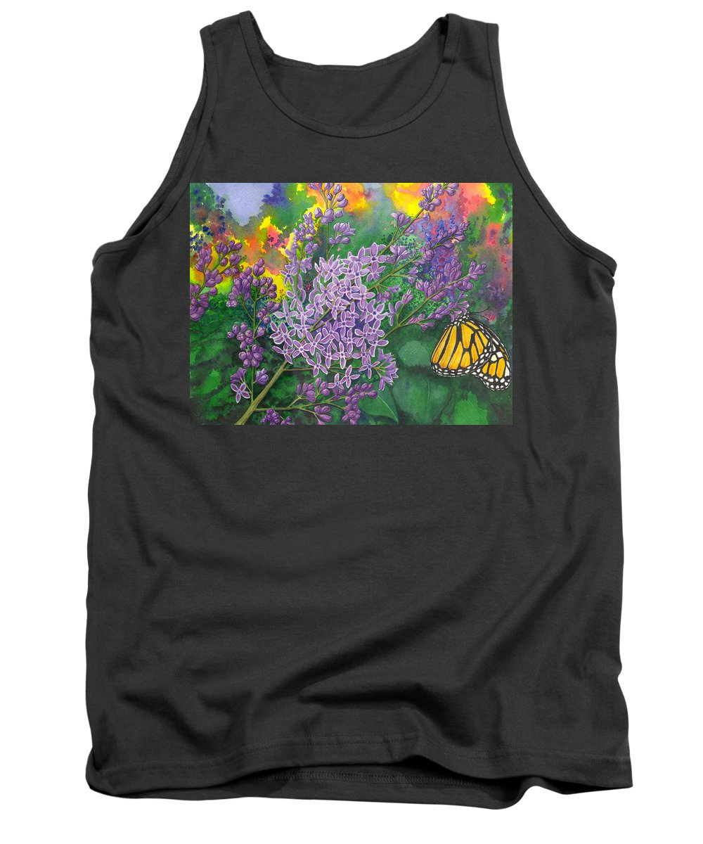 Lilac Tank Top featuring the painting Lilac by Catherine G McElroy